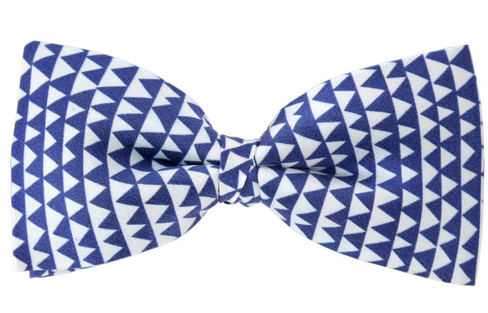 zoom Pajarita de seda Delaunay azul y blanco
