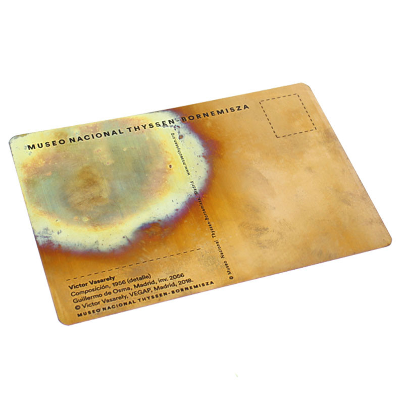 zoom Postal cobre Composición Vasarely