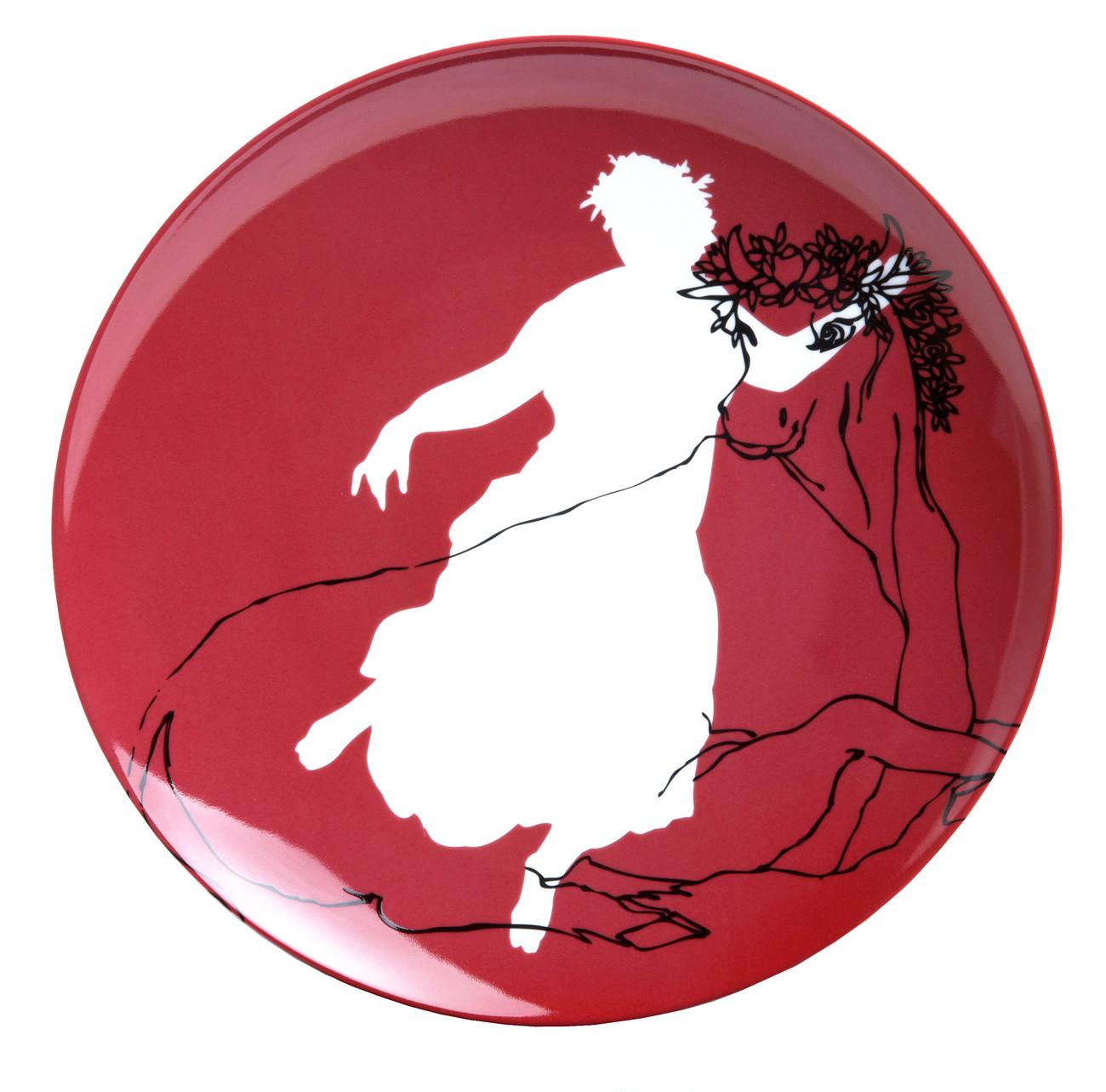 zoom Plato de porcelana El rapto de Europa