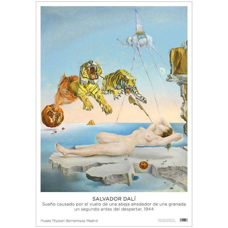 zoom Póster Salvador Dalí: Sueño causado por el vuelo de una abeja alrededor de una granada un segundo antes de despertar