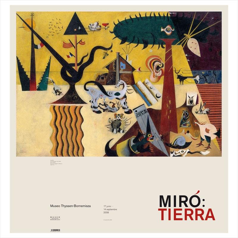zoom  Póster Miró: Tierra Labrada