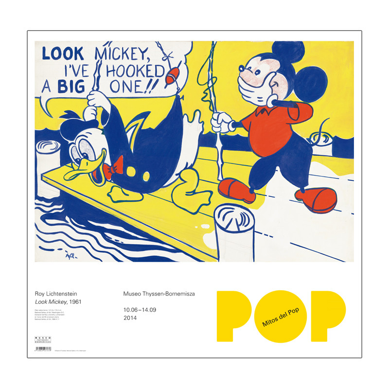 zoom Poster Look Mickey, Exp. Mitos del Pop