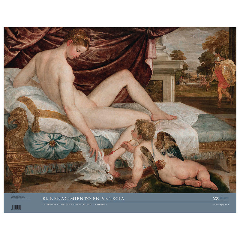 zoom Poster exposición Renacimiento en Venecia: Venus y Cupido