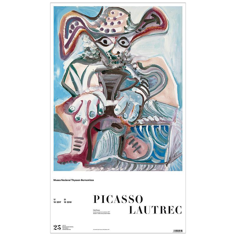zoom Poster Hombre Sentado (Pablo Picasso)