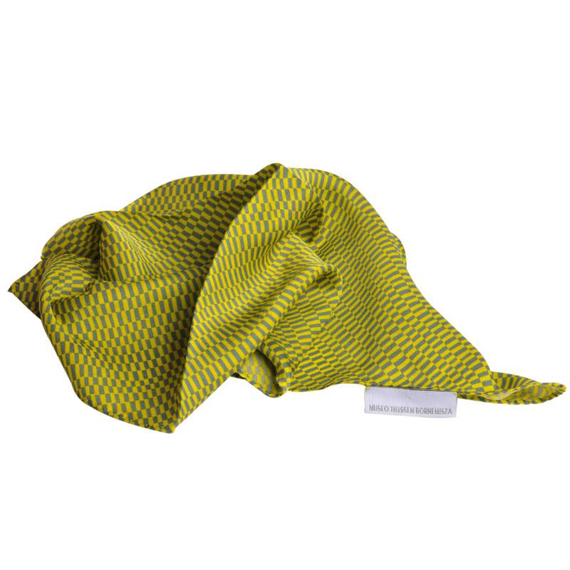 zoom Pañuelo de seda Delaunay amarillo y gris