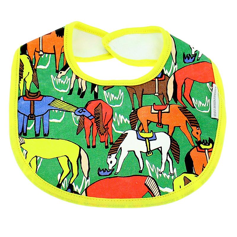 zoom Babero verde La ilusión del Lejano Oeste