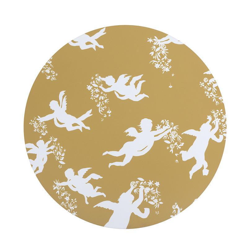 zoom Mantel individual amarillo ángeles de Zurbarán