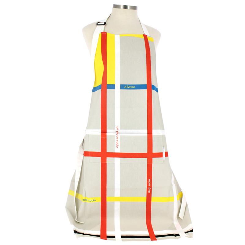 zoom Delantal cocina Mondrian