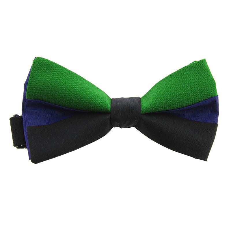 zoom Pajarita reversible Azul + Negro + Verde / Azul El fumador de Juan Gris