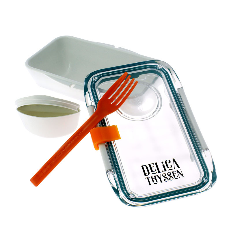 zoom Recipiente hermético para comida Delicathyssen Blanco rectangular