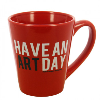 "Taza roja ""Have an art day"""