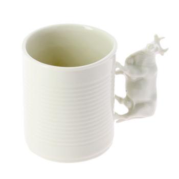 Taza de porcelana Vaca Jardín del Edén