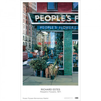 Póster Richard Estes: People's Flower