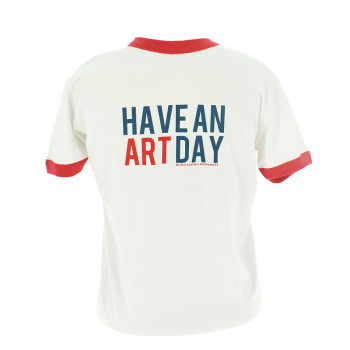 "Camiseta Blanca y Roja ""Have An Art Day"""