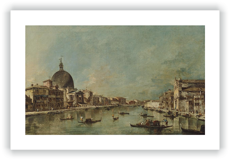 Vista del Canal Grande con San Simeone Piccolo y Santa Lucía