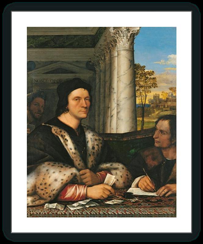 Retrato de Ferry Carondelet con sus secretarios