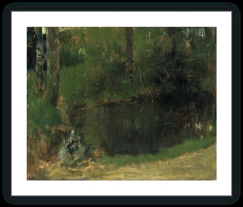 El estanque en el bosque
