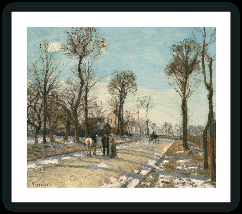 Camino, sol de invierno y nieve
