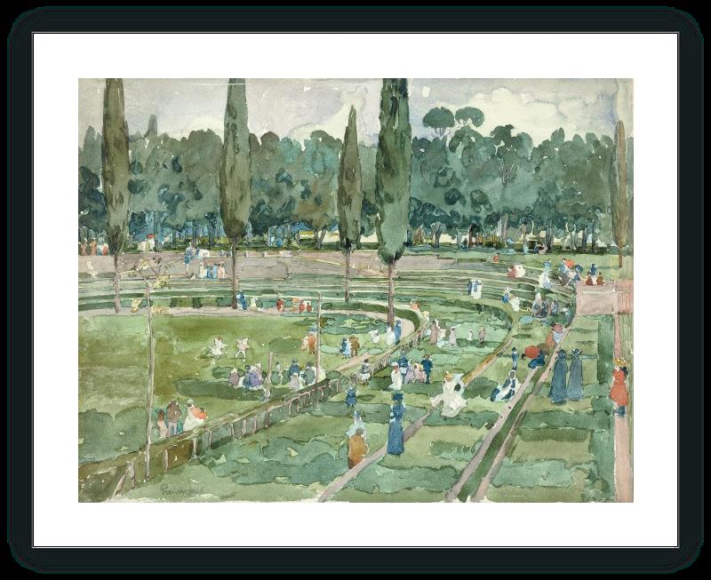 El hipódromo (Piazza Siena, Jardines Borghese, Roma)