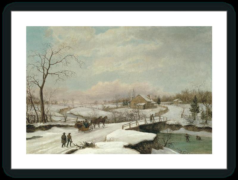 Paisaje invernal en Filadelfia