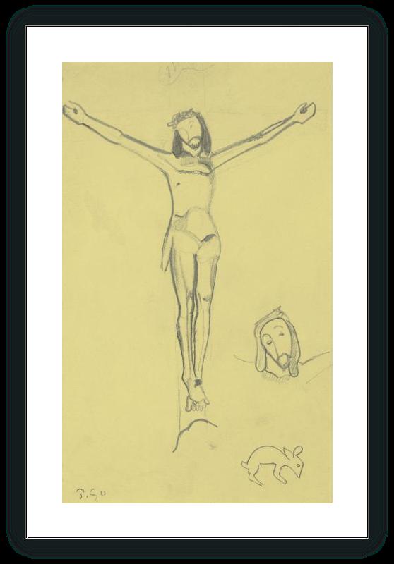 """Estudio para el """"Cristo amarillo"""""""