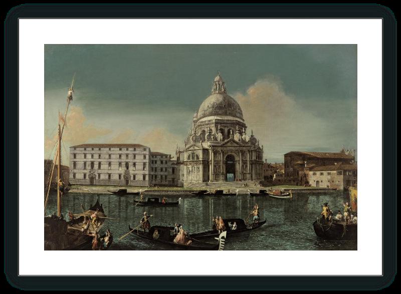 Vista del Canal Grande con Santa Maria della Salute