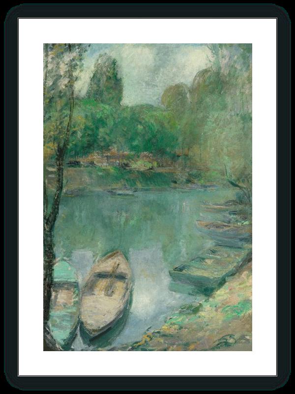 Barcas amarradas en un estanque