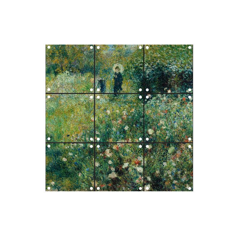 """Decoración mural IXXI 60 X 60 cm Renoir """"Mujer con sombrilla"""""""