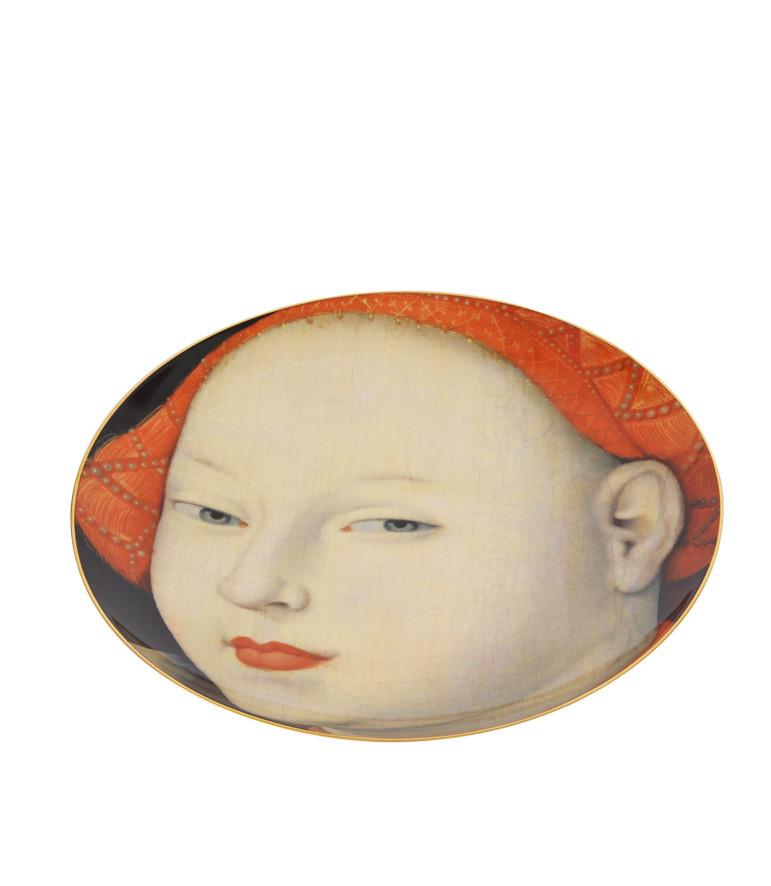 Plato de porcelana Retrato de una Dama