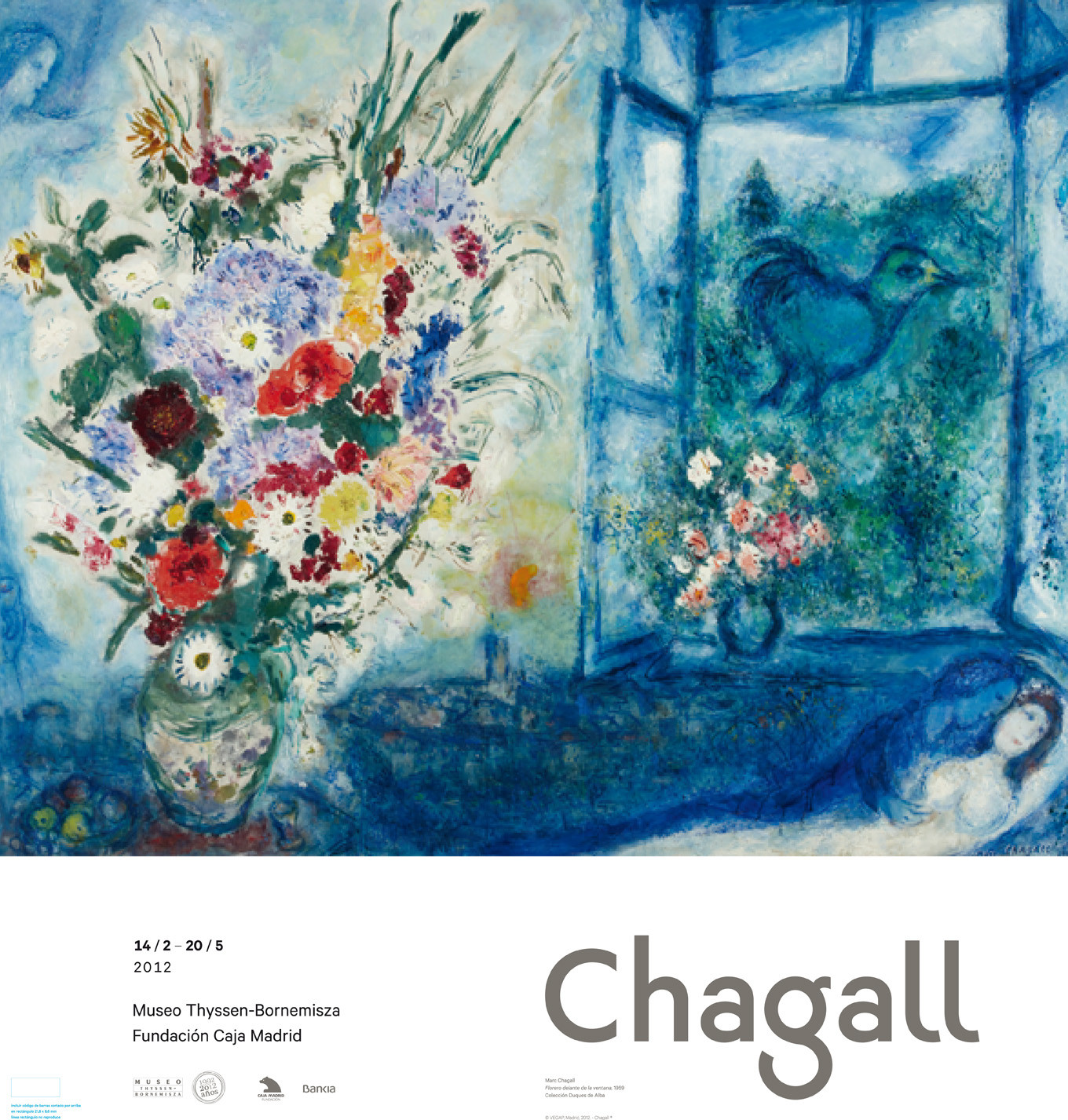 Póster Marc Chagall: Florero delante de la ventana