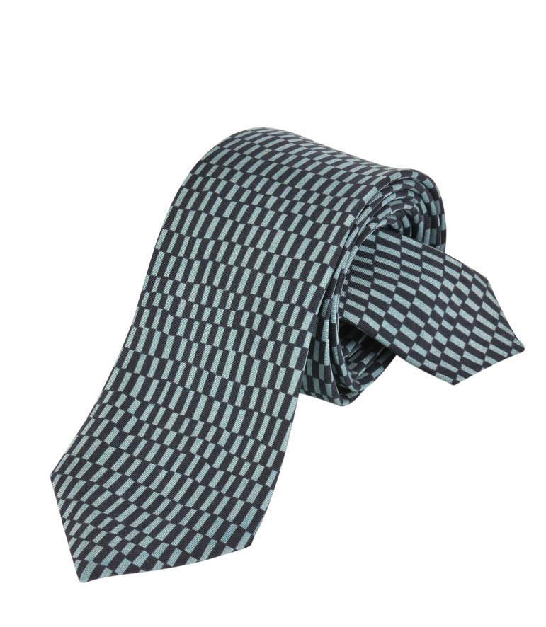 Corbata Delaunay rectángulos verdes y negros