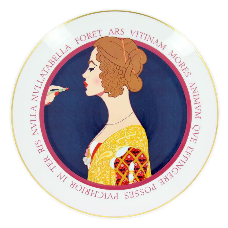 Plato de porcelana ilustración Giovanna