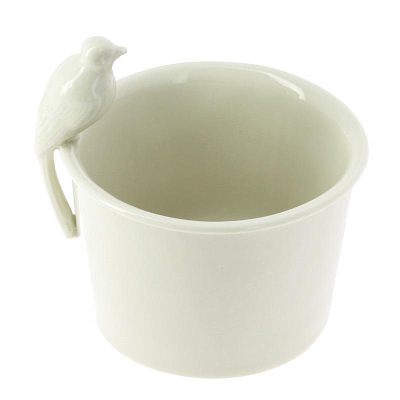 Bol de porcelana pájaro