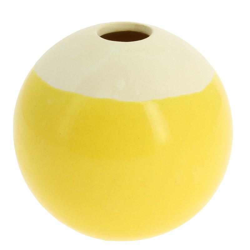Pequeña pieza de cerámica amarilla Sonia Delaunay