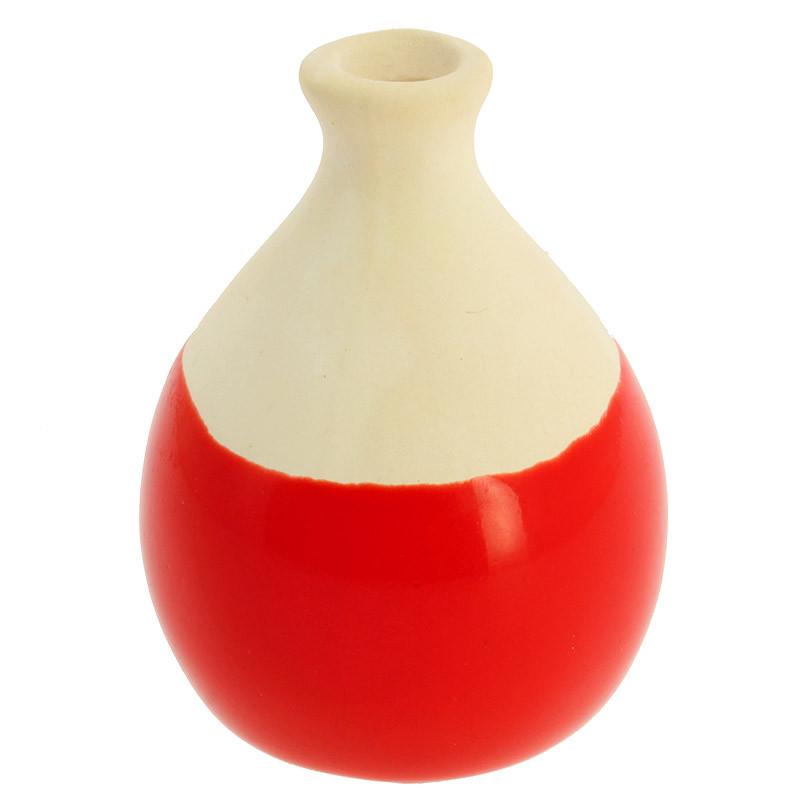Pequeña pieza de cerámica roja Sonia Delaunay