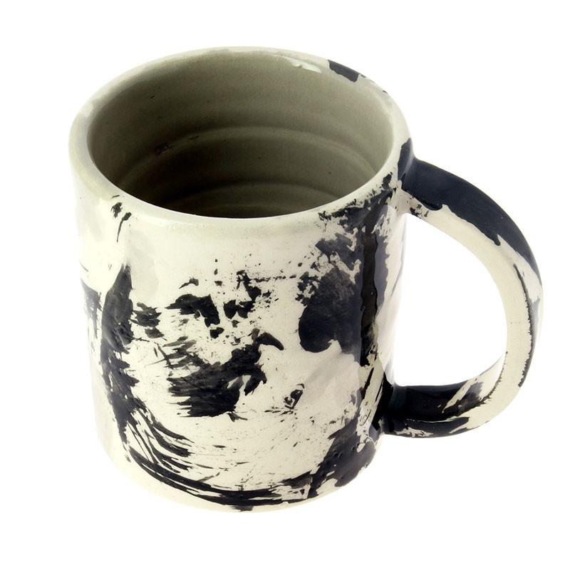 Taza de cerámica expresionismo abstracto