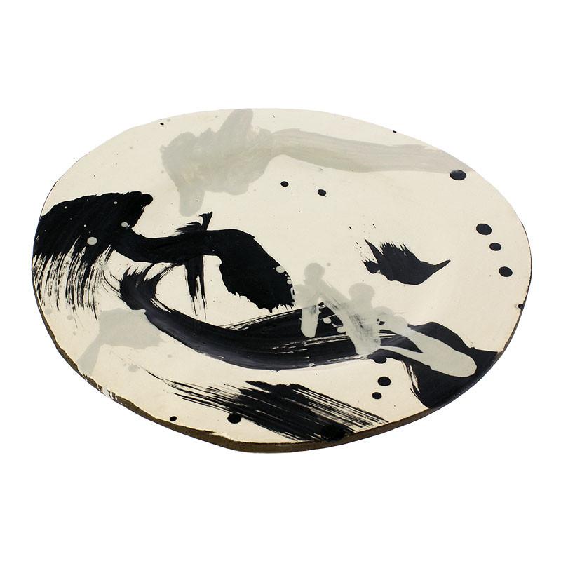Bajoplato de cerámica expresionismo abstracto