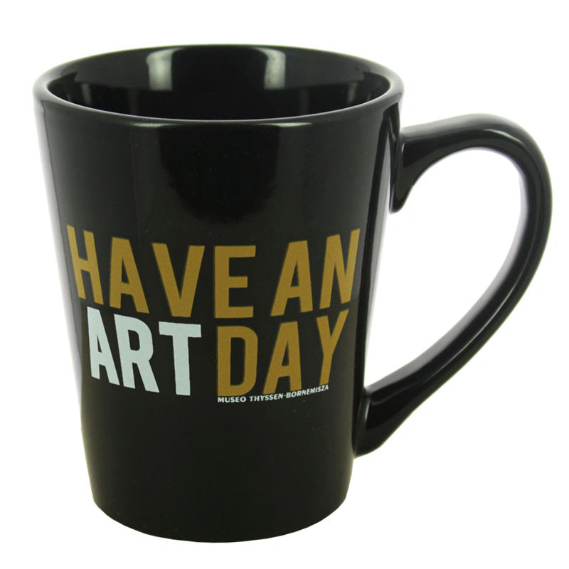 """Taza negra """"Have an art day"""""""