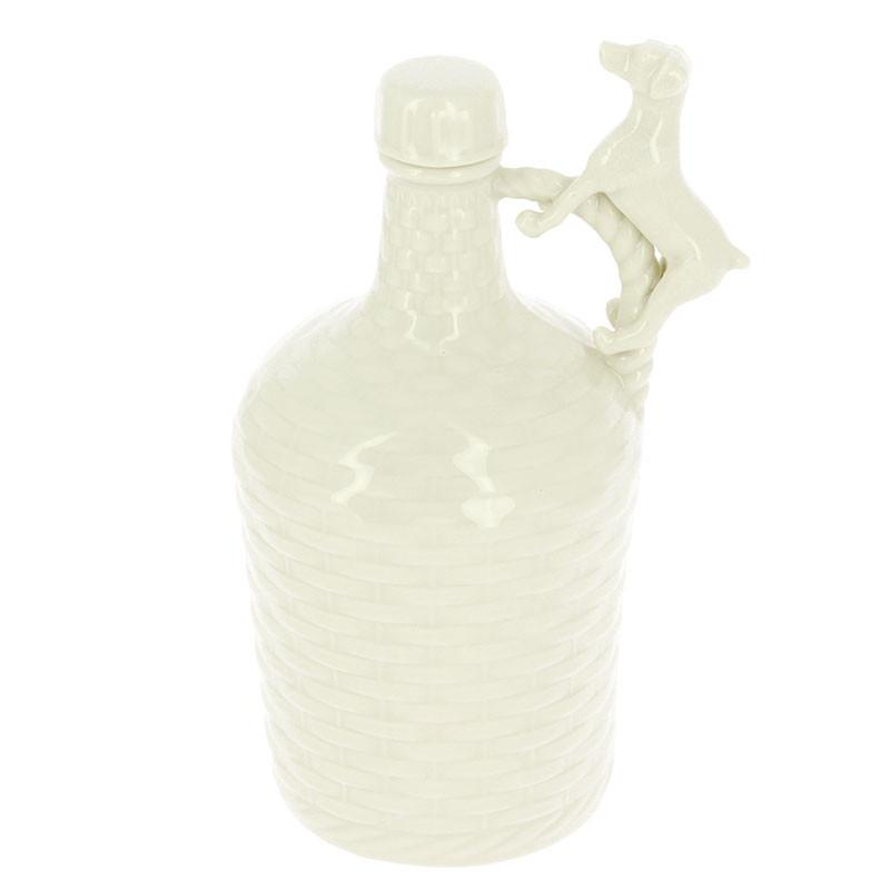 Botella de porcelana Perro