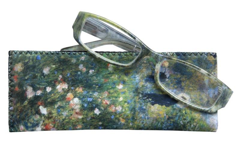 Gafas graduadas Mujer con sombrilla en un jardín de Renoir