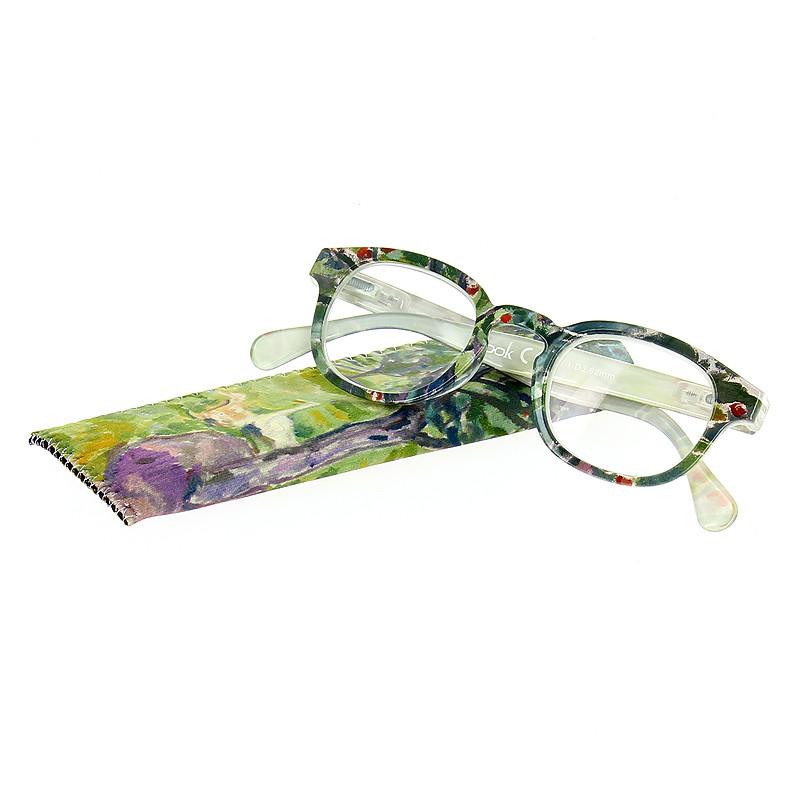 "Gafas de leer ""Gansos en un huerto"" de Edvard Munch."