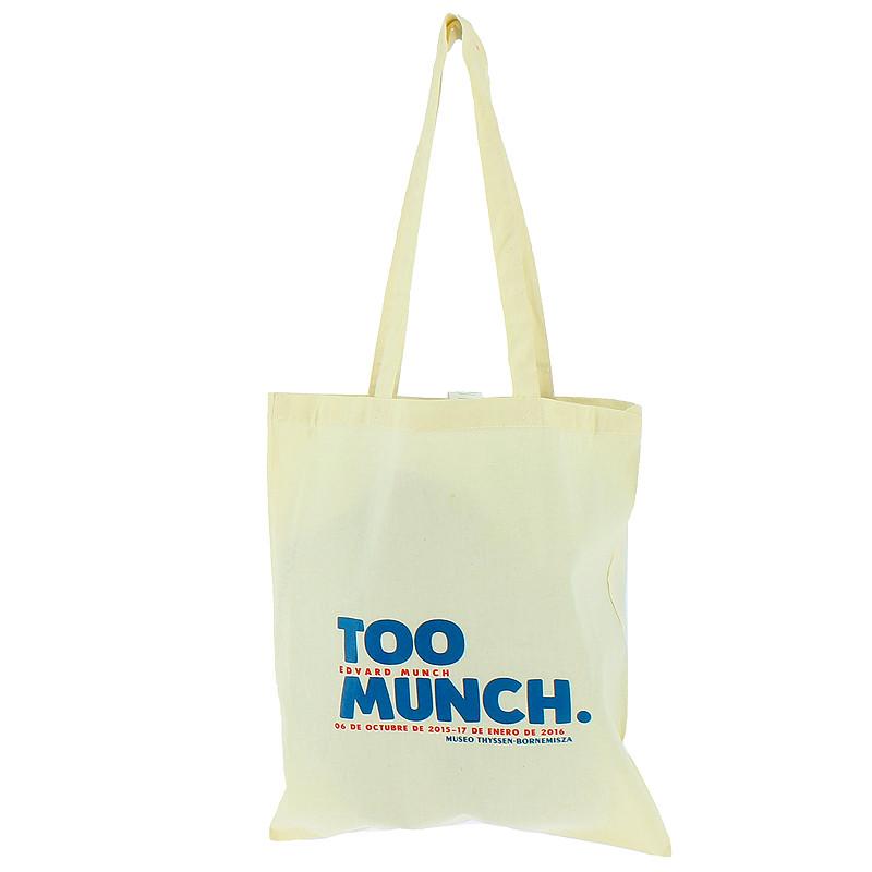 Bolsa blanca de tela Too Munch