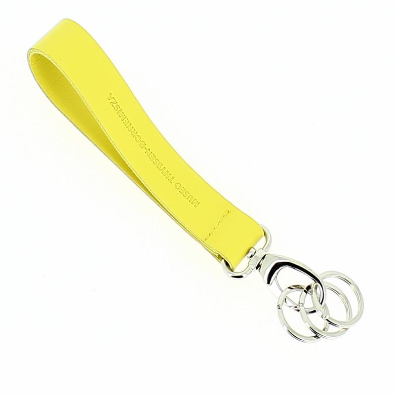 Llavero piel amarillo 3 anillas Doesburg