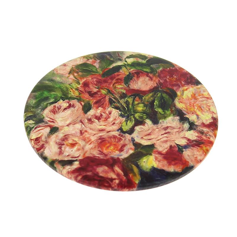 """Espejo Renoir """"Rosas en un jarrón"""""""