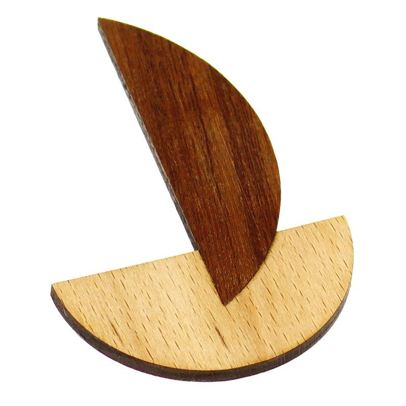 Broche Moholy-Nagy madera