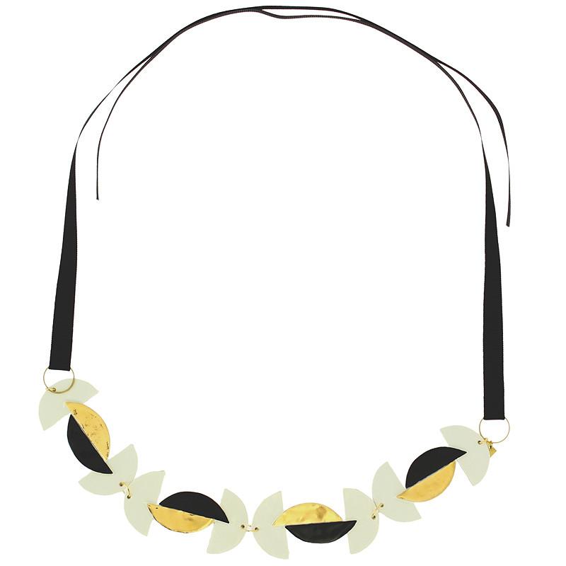 Collar Segmentos de Círculo Porcelana