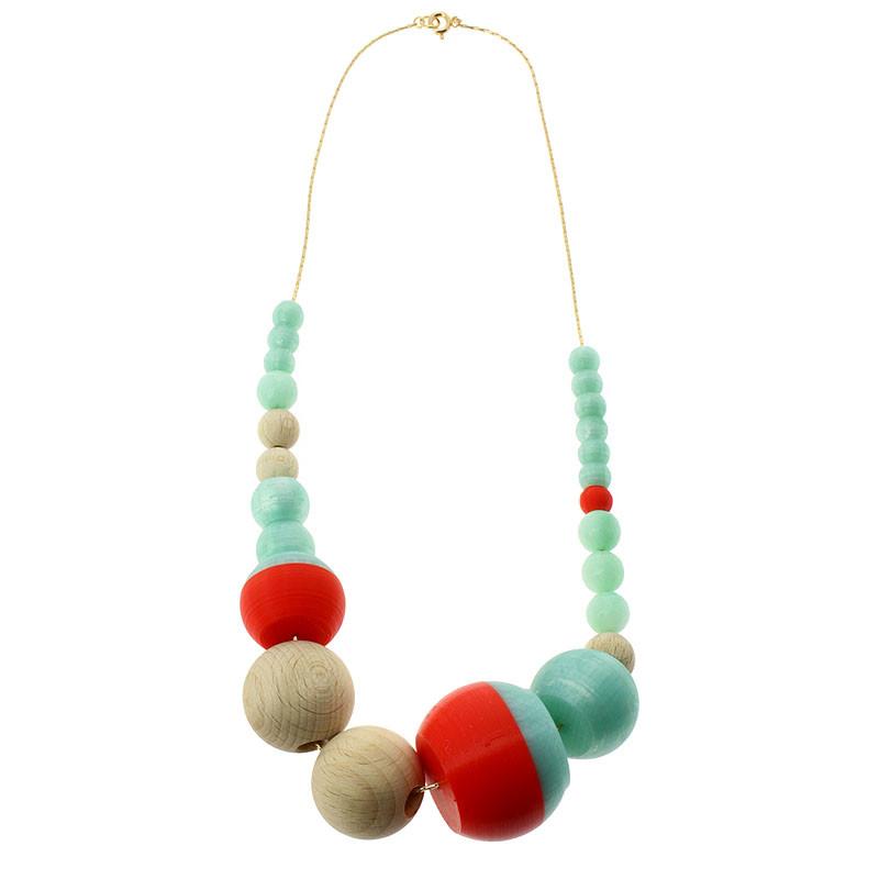 Collar rojo y turquesa 24 piezas Sonia Delaunay por Helena Rohner