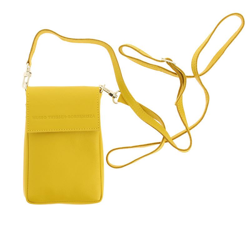Bolso pequeño de piel amarillo