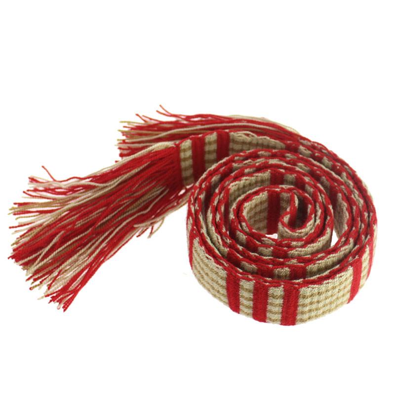 Cinturón rojo y blanco Op Art