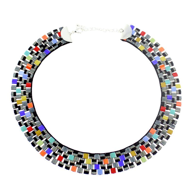 Collar Kroa cristal Op Art